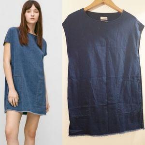 Wilfred Free Nori Dark Denim Pocket Dress